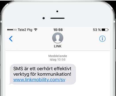 SMS med LINK I